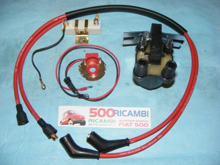 FIAT 500 F/L/R 126 KIT COMPLETO MODIFICA ACCENSIONE ELETTRONICA MAGNETICA BOBINA