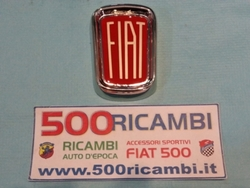 FIAT 500 L SCUDETTO ORIGINALE IN METALLO SMALTATO CROMATO STEMMA CALANDRA