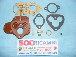 FIAT 500 D F L KIT SERIE REVISIONE CARBURATORE ORIGINALE WEBER 26 + DISTANZIALE