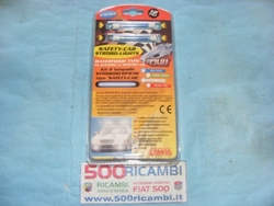 FIAT 500 & 126 KIT 2 LAMPADE STROBO STROBOSCOPICHE SAFETY CAR BLU TUNING
