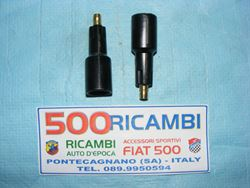 FIAT 500 F/L/R 126 KIT 2 PROLUNGHE CANDELE ACCENSIONE IN BACHELITE CAVI DA 7mm