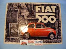 FIAT 500 F/L/R CARTELLO IN METALLO FIAT 500 R TARGA VINTAGE OFFICINA GARAGE CASA
