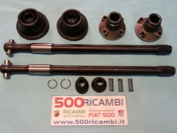 KIT MODIFICA SEMIASSE RINFORZATI COMPLETA FIAT 500 F/L/R DA 25mm