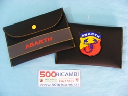 FIAT 500 & 126 - LIBRETTO PORTA DOCUMENTI SCRITTA + LOGO ABARTH